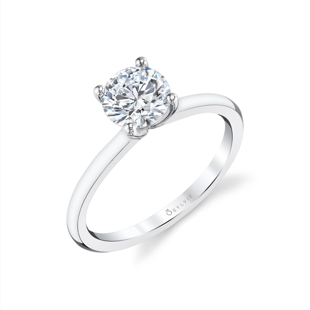Platinum Solitaire Engagement Ring Mounting