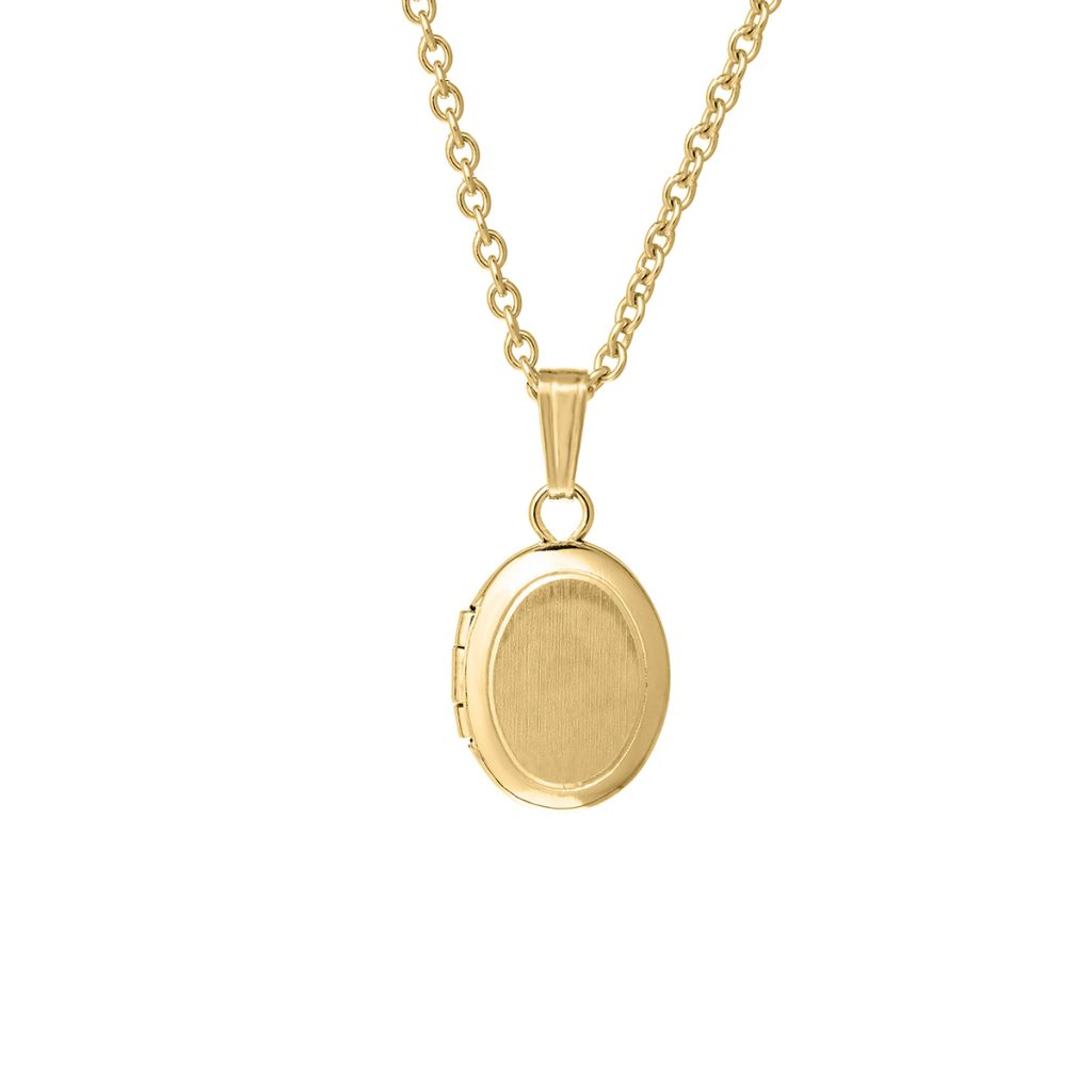 Gold Filled Child's Oval Locket and Chain