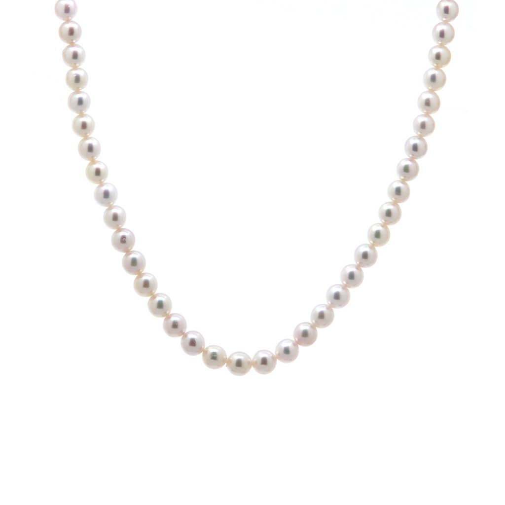 14K White Gold Akoya Pearl Necklace