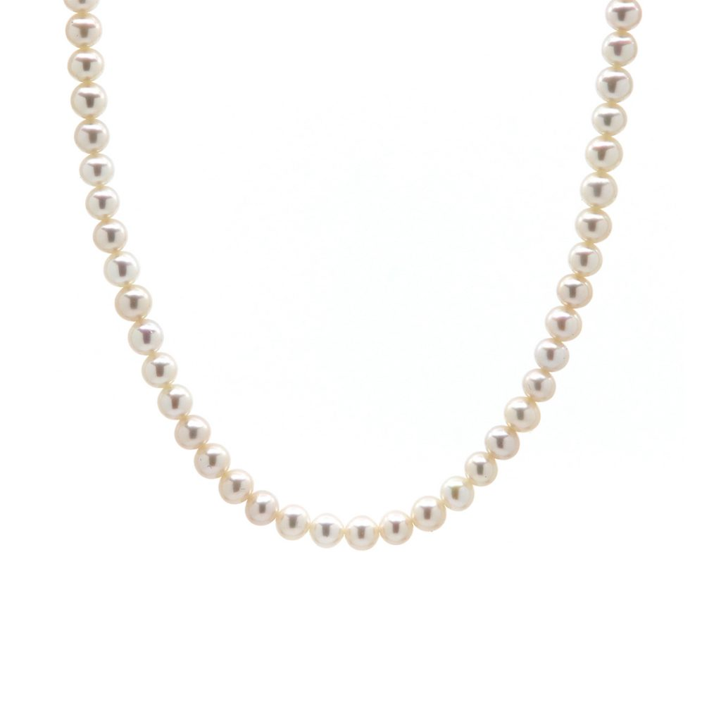 White Freshwater Pearl Strand with Sterling Silver Clasp