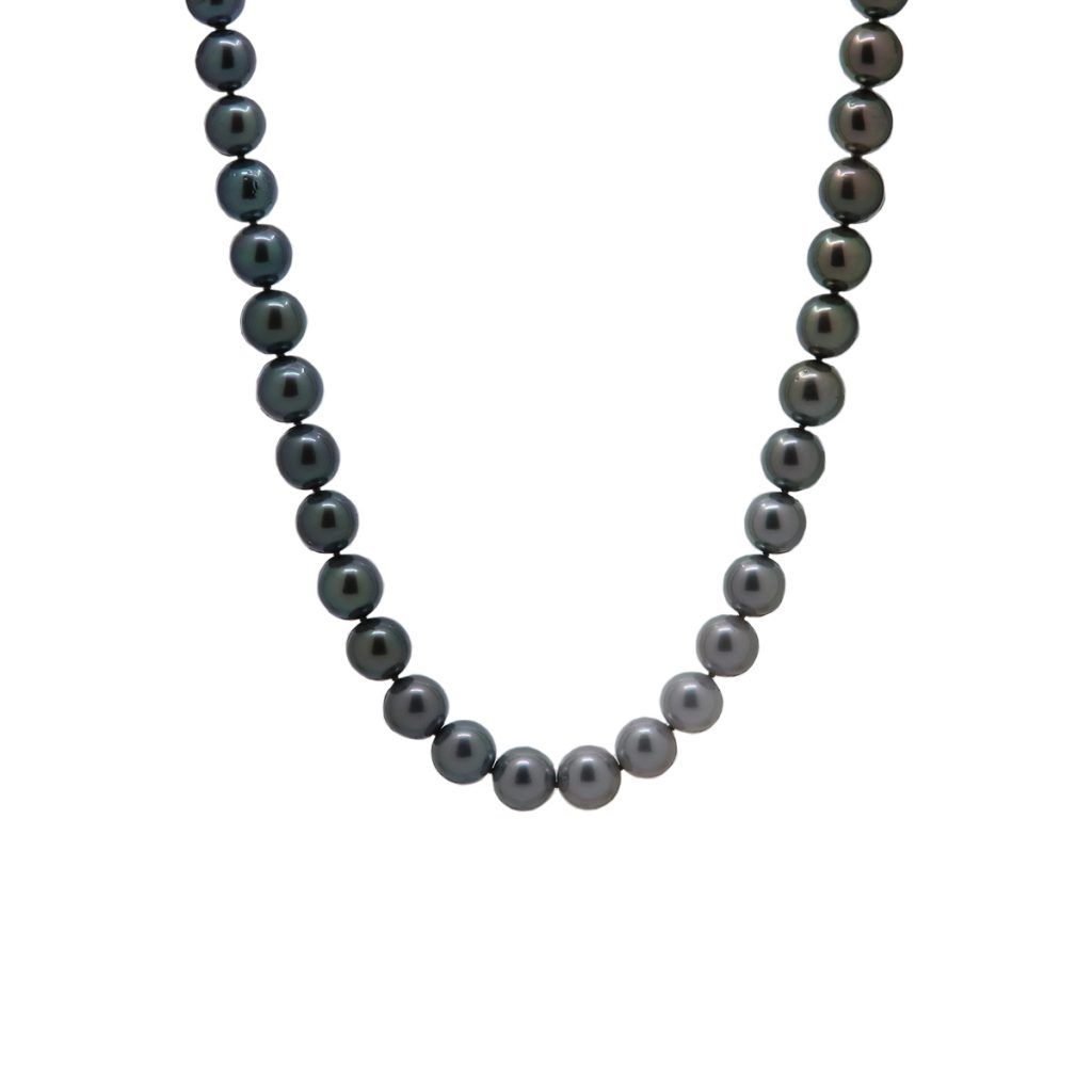 18K White Gold Tahitian Pearl Necklace