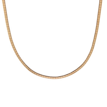 Estate 14K Yellow Gold Domed Omega Chain